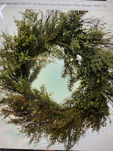 Pine/Boxwood wreath-30""
