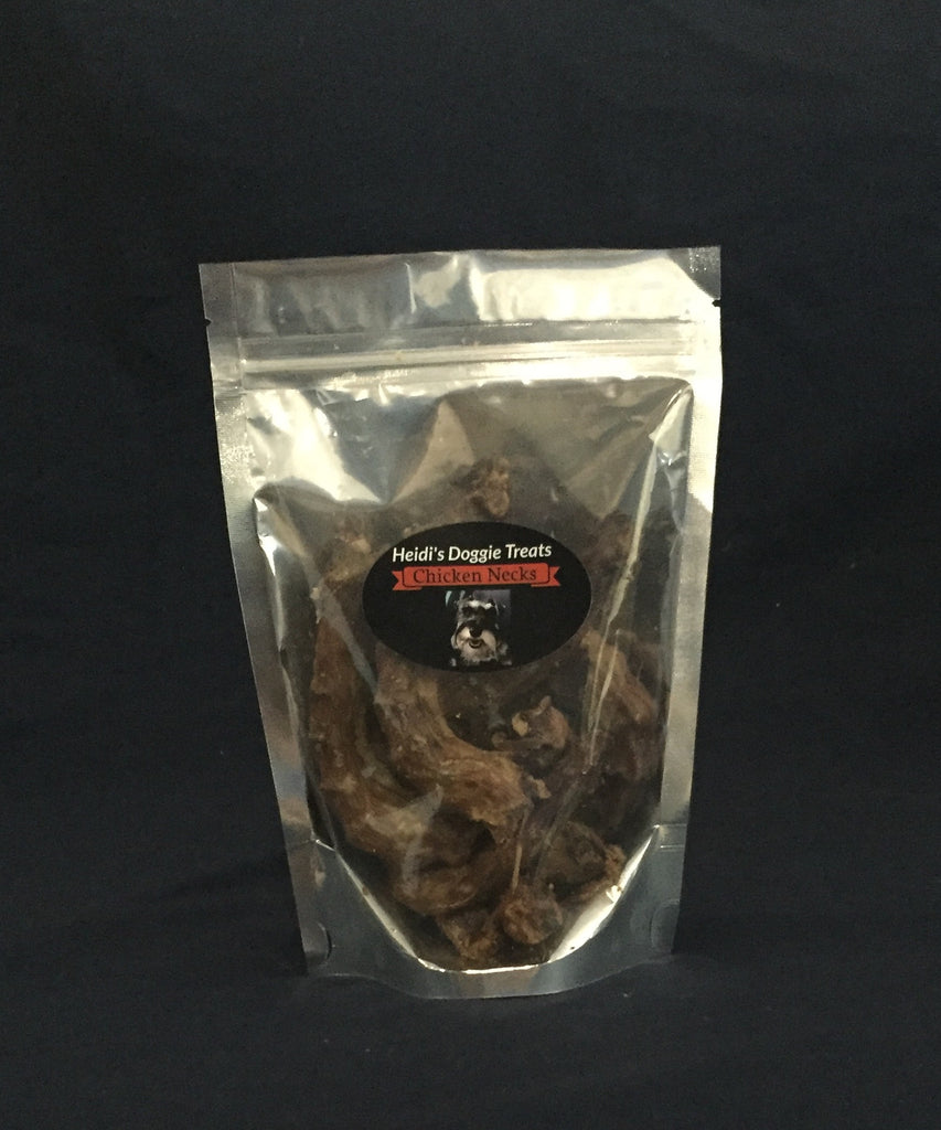 Dehydrated chicken necks - Heidi's Doggie Treats