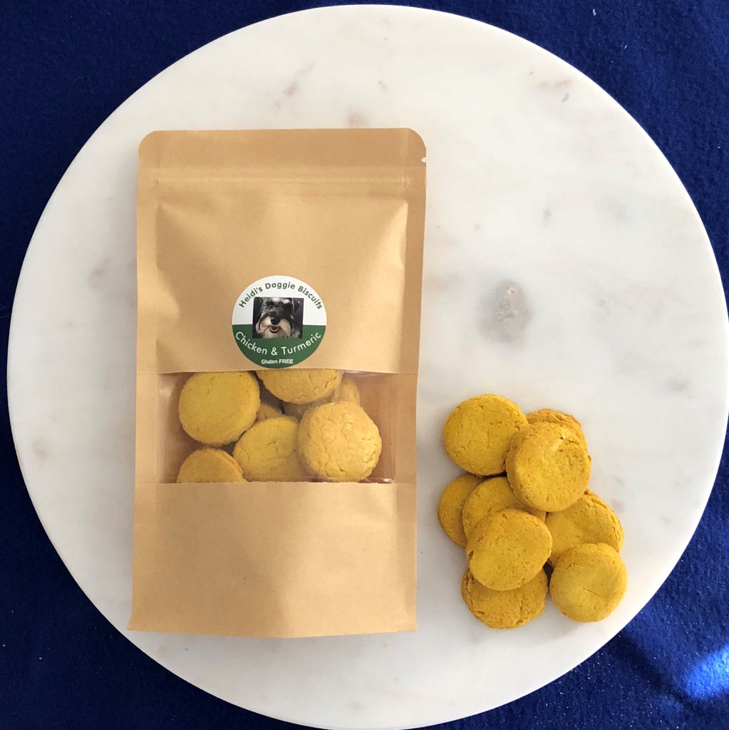 Chicken and turmeric dog biscuits - Heidi's Doggie Treats