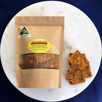 Chicken and turmeric crackle - natural dog treats