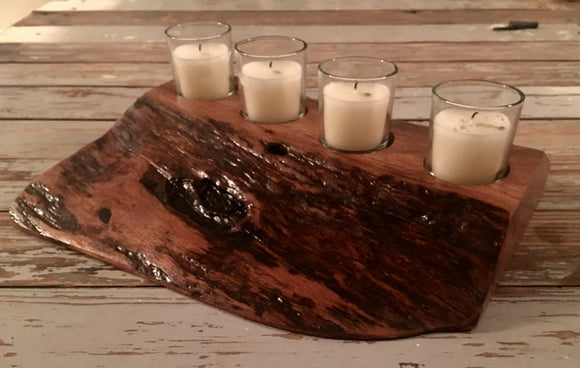 Mesquite Wood Candle Holder