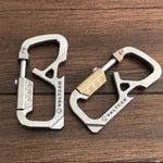 Valtcan Titanium Bolt Carabiner Key Chain Holder CyberCarabiner Brass Highlights
