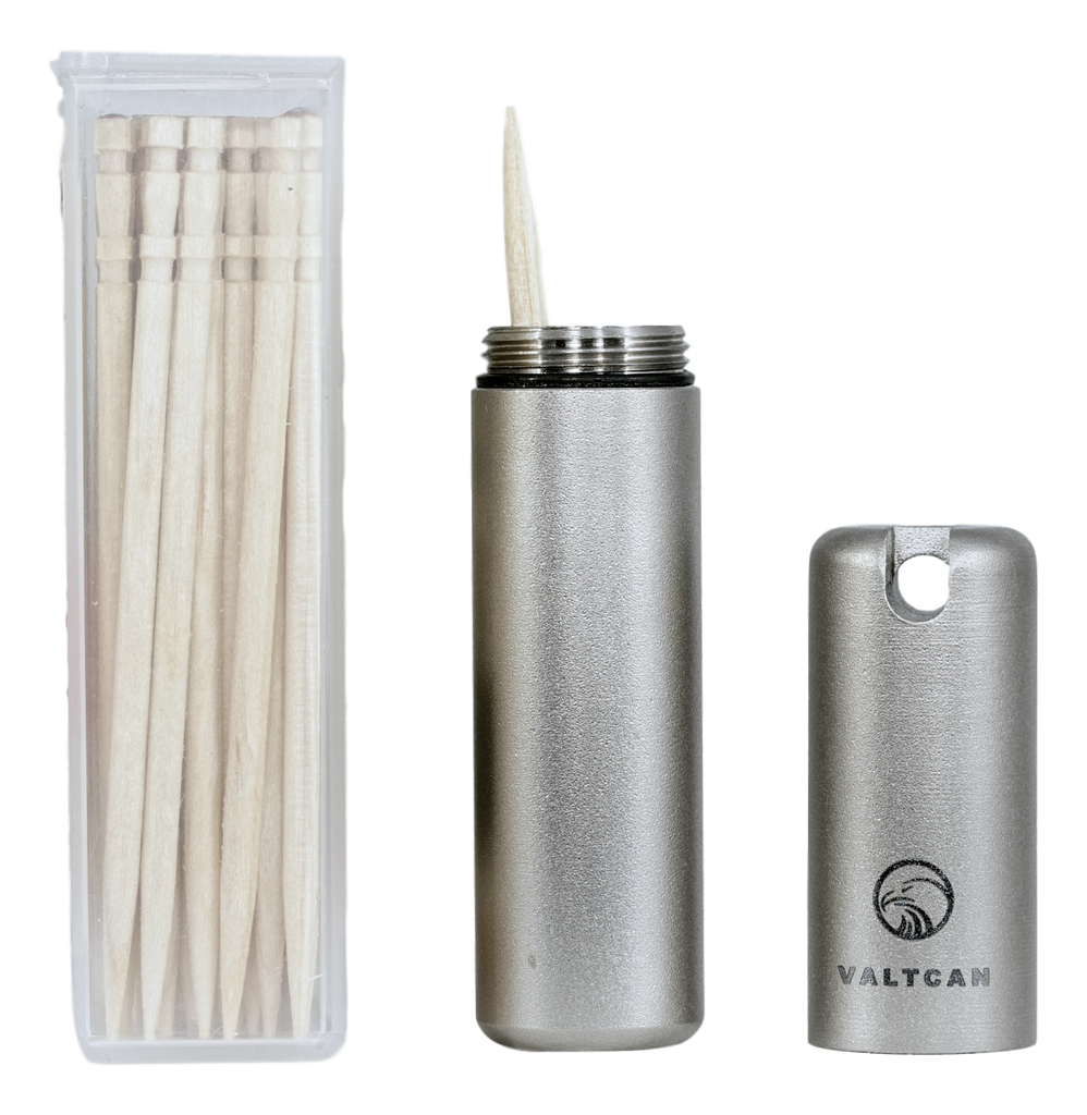 Valtcan titanium toothpick holder pocket caddy - Portable toothpick holder ...