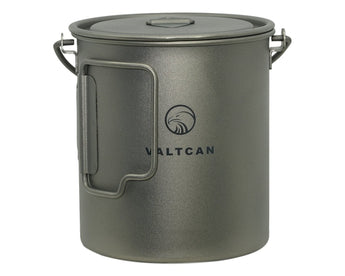 Valtcan Titanium Camping Pot 750ml with Handles