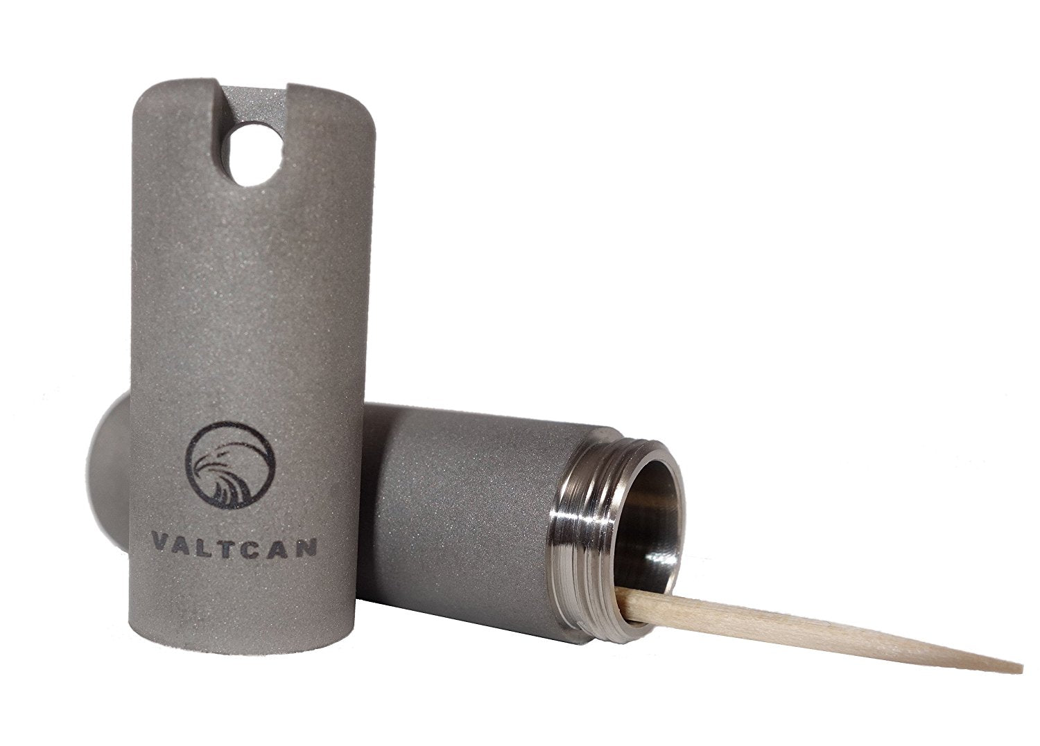 Valtcan Pure Titanium Matte Finish Toothpick Holder For Single Sided Toothpicks