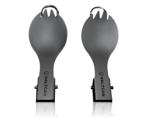 Valtcan Titanium Folding Spork Set with Carrying Bag 2 Pack
