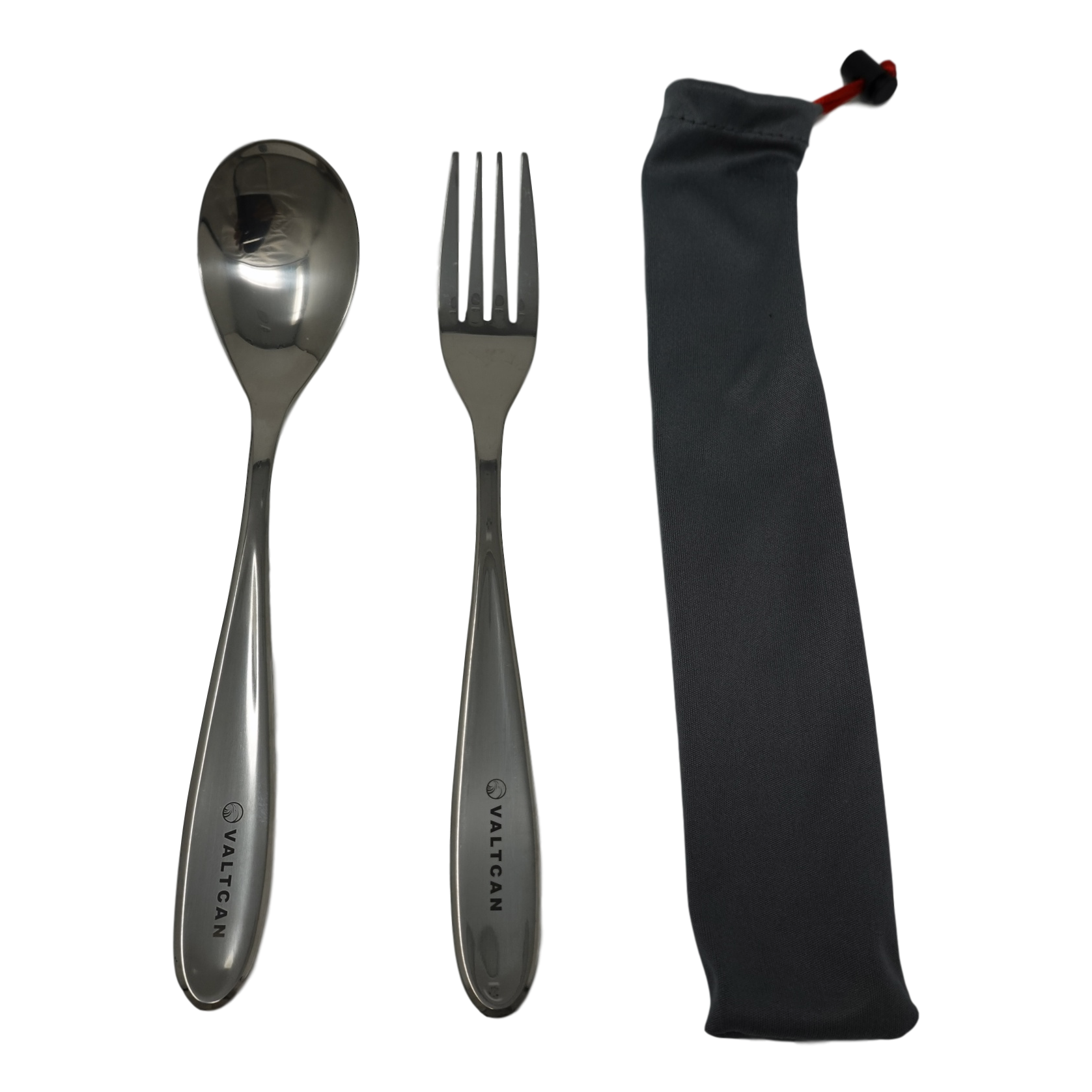 Valtcan Titanium Fork and Spoon Kitchen Flatware Full Length 8 inch Polished