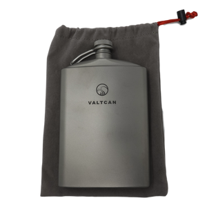 Valtcan Titanium Hip Flask Canteen Military Design 260ml 8.8 oz Capacity