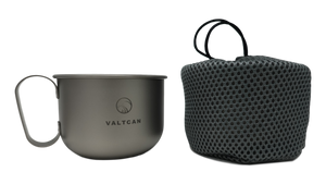 Valtcan Titanium Mug 500ml with Solid Handle 16.9 oz Cup for Coffee and Tea
