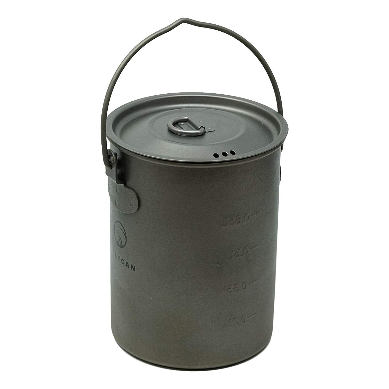 Valtcan 900ml Titanium Pot 34 fl oz with Lid and Stuff Sack