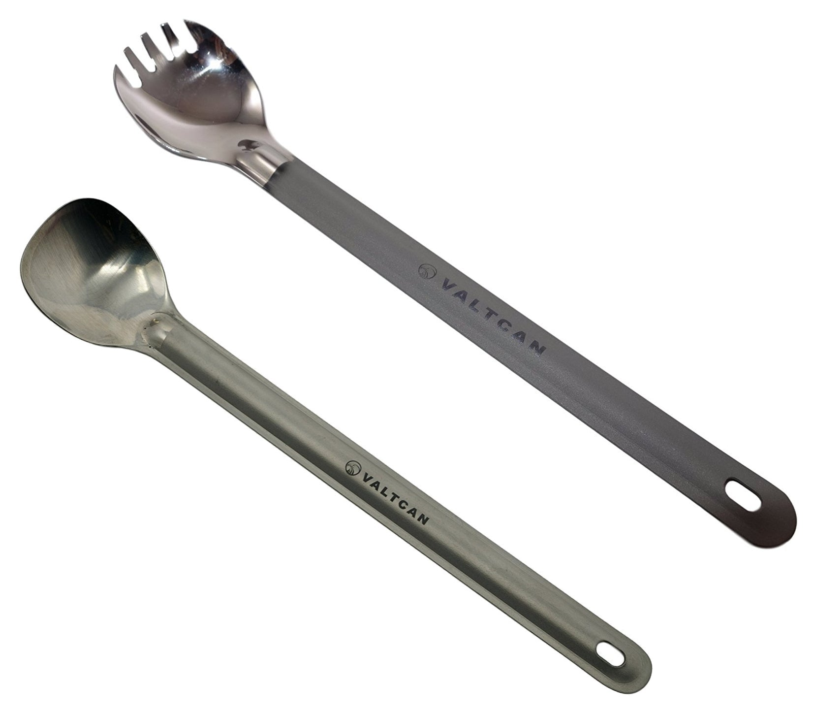Valtcan Titanium Spork and Spoon Set Camping Essentials