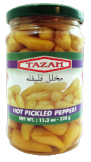 Tazah Hot Pickled Peppers
