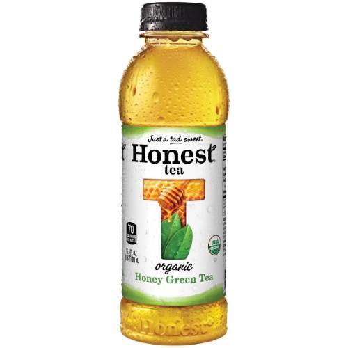 Honest Green Tea, Honey, 16.9 Fl Oz (Pack of 12)