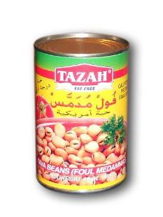 Tazah Fava Beans Ready-to-Eat, 450 G (Fat Free Fava Beans)
