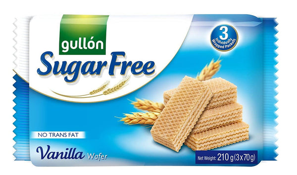 GULLON SUGAR FREE VANILLA WAFER COOKIES-MOVE HALAL