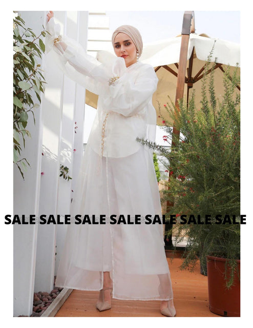 Nuum Design White Abaya-Clothing-MOVE HALAL