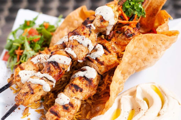 Chicken Kebab Plate-MOVE HALAL