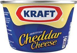 Kraft Prepared Pasteurized Cheddar Cheese, Pantry Staple Cheese Spread for Crackers