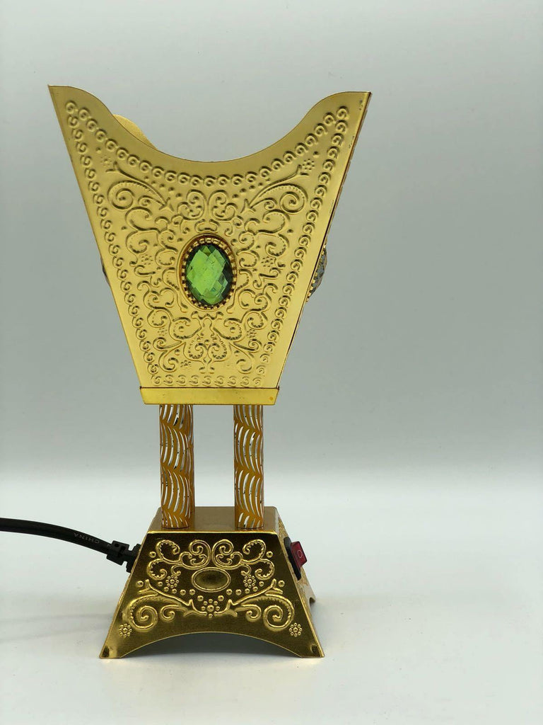 Gold Embedded Jewel Classic Bakhoor Incense Burner- Electric Mabkhara