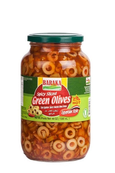 Spicy Sliced Green Olives-MOVE HALAL