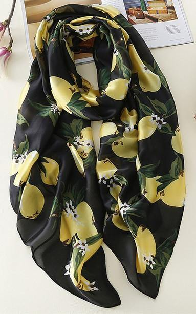 Lemon Printed Hijabs-Hijab-MOVE HALAL