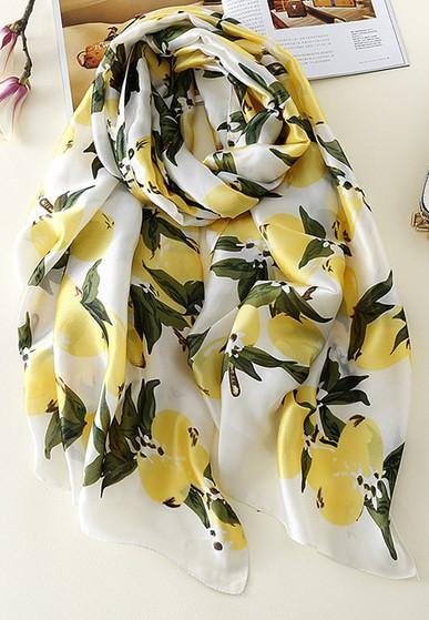 Lemon Printed Hijabs