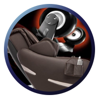 Positive Posture Brio Sport Massage Chair Heated Rollers