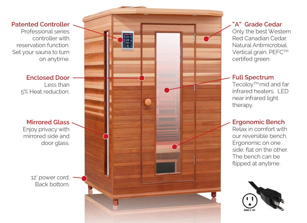 Health Mate Enrich 2 Person Full Spectrum Sauna