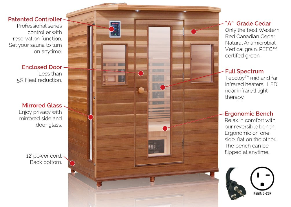 Health Mate Enrich 3 Full Spectrum Sauna