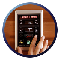 Health Mate Enrich 2 Full Spectrum Sauna -  Patented Interior & Exterior Controllers