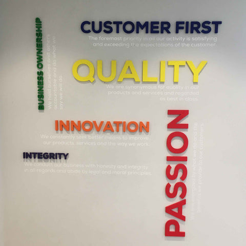 Human Touch Wall Art - core values of the company