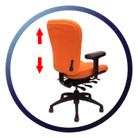 Lifeform Eclipse Deluxe Mid-Back 6694 Management Chair - Ratchet Back Height Adjustment