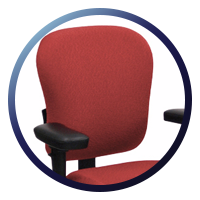 Lifeform Eclipse Deluxe Mid-Back 6694 Management Chair - Fully Supported Back REst
