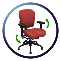 Lifeform Eclipse Deluxe High-Back 6794 Management Chair - height and width adjusable arm brackets