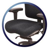 Lifeform Eclipse Deluxe Mid-Back 6694 Management Chair-Contoured Seat
