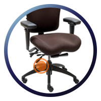 Lifeform Eclipse Deluxe Mid-Back 6694 Management Chair - Tilt & Lock Function