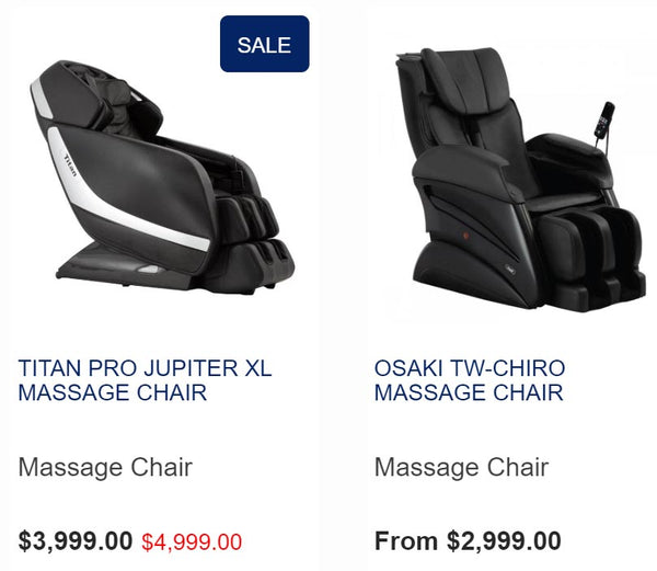 Titan Pro Jupiter vs Osaki TW-Chiro - value massage chairs for tall people