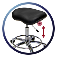 Lifeform Saddle Stool - Height Adjustment