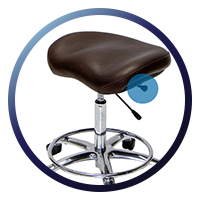 Lifeform Saddle Stool - Tilt Tension Adjustment