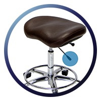Lifeform Saddle Stool - Tilt and Lock Function