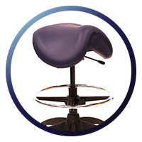 Lifeform Saddle Stool - Contoured Seat