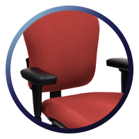 Lifeform Eclipse Deluxe Mid-Back 6694 Management Chair - Lumbar Support