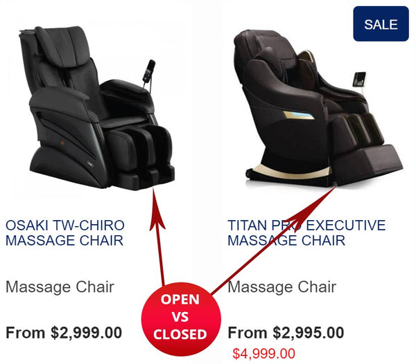 Massage Chairs for tall people - top considerations - foot size