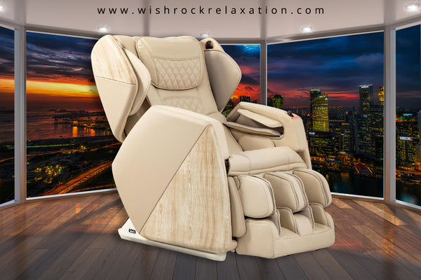 Osaki Pro Soho 4D Massage Chair with heated rollers and retracatable ottoman