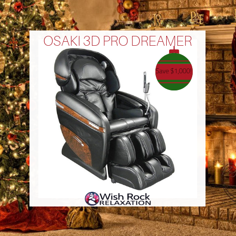 OSAKI 3D PRO DREAMER MASSAGE CHAIR BLACK FRIDAY