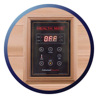 Health Mate Renew 3 Sauna -  Patented Interior & Exterior Controllers