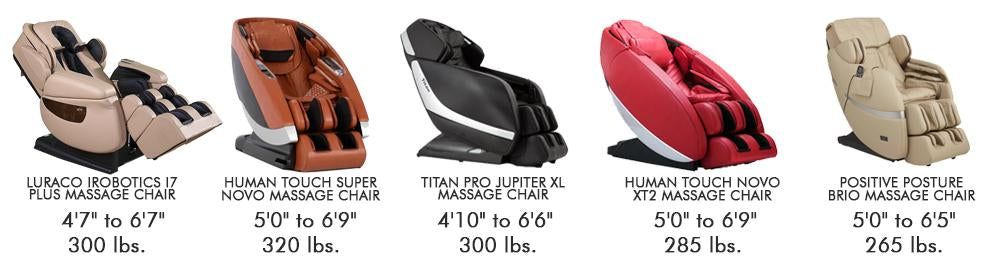 Massage Chair Height and Weight Requirements