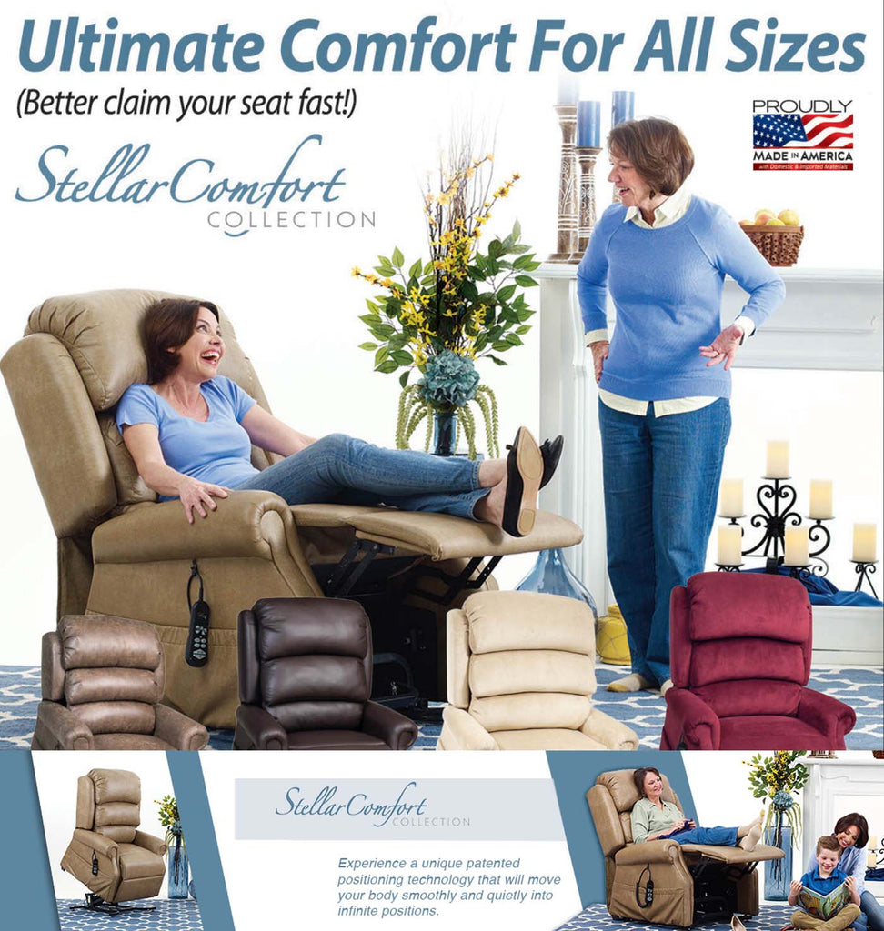 UltraComfort America Stellar Comfort Series - patented positioning system
