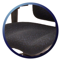 Temperature and Pressure Sensitive LIFE-Foam™ Memory Foam Seat and Back Rest