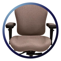 Lifeform Eclipse Deluxe Mid-Back 6694 Management Chair - Upholstered LIFE-Foam™ Memory Foam Filled Arm Pads